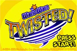 Title screen of WarioWare Twisted on the Nintendo Game Boy Advance.