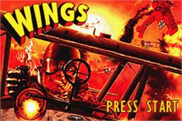 Title screen of Wings on the Nintendo Game Boy Advance.