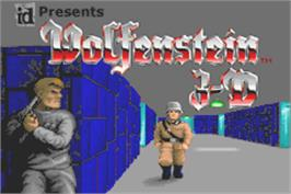 Title screen of Wolfenstein 3D on the Nintendo Game Boy Advance.