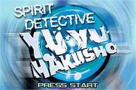 Title screen of Yu Yu Hakusho: Spirit Detective on the Nintendo Game Boy Advance.