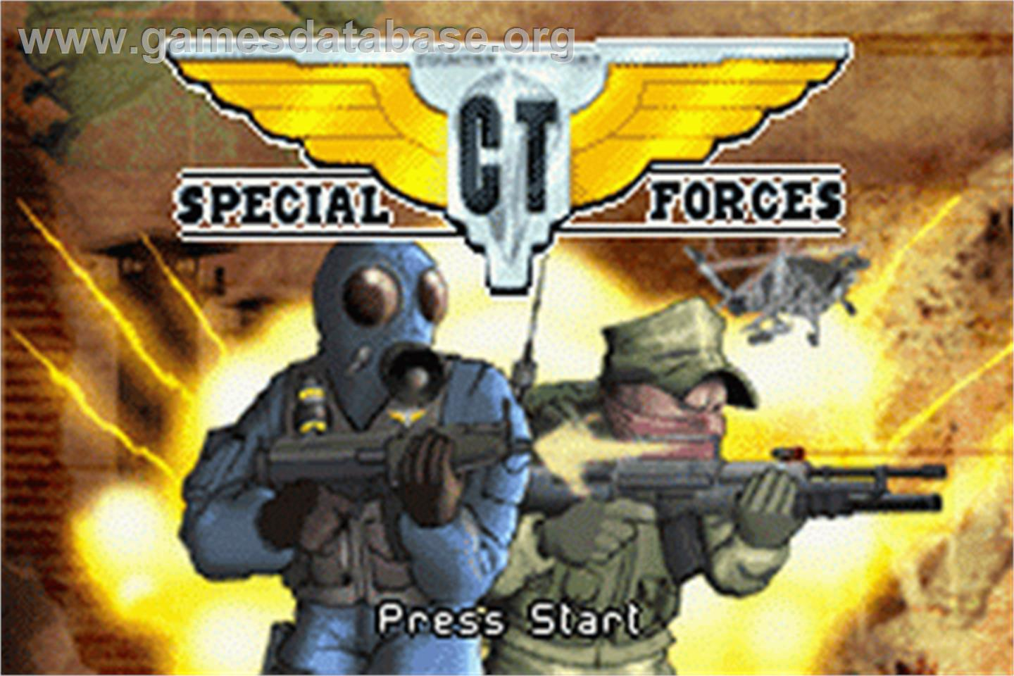 CT Special Forces - Nintendo Game Boy Advance - Artwork - Title Screen
