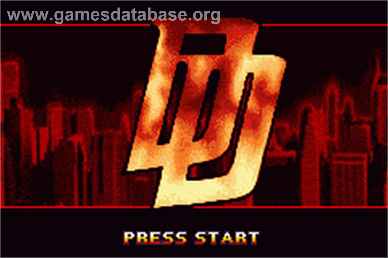 Daredevil - Nintendo Game Boy Advance - Games Database