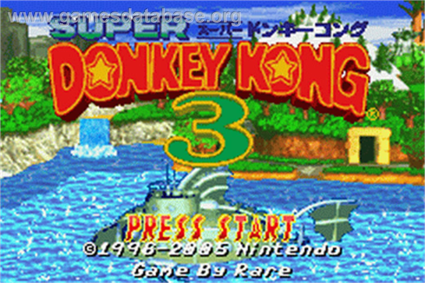 Donkey Kong 3 - Nintendo Game Boy Advance - Artwork - Title Screen