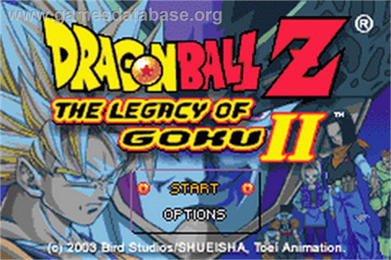 of Dragonball Z: Legacy of Goku 2 on the Nintendo Game Boy Advance