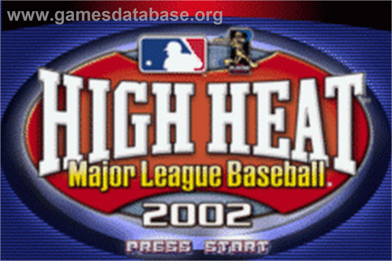 High Heat Major League Baseball 2002 on the Nintendo Game Boy Advance