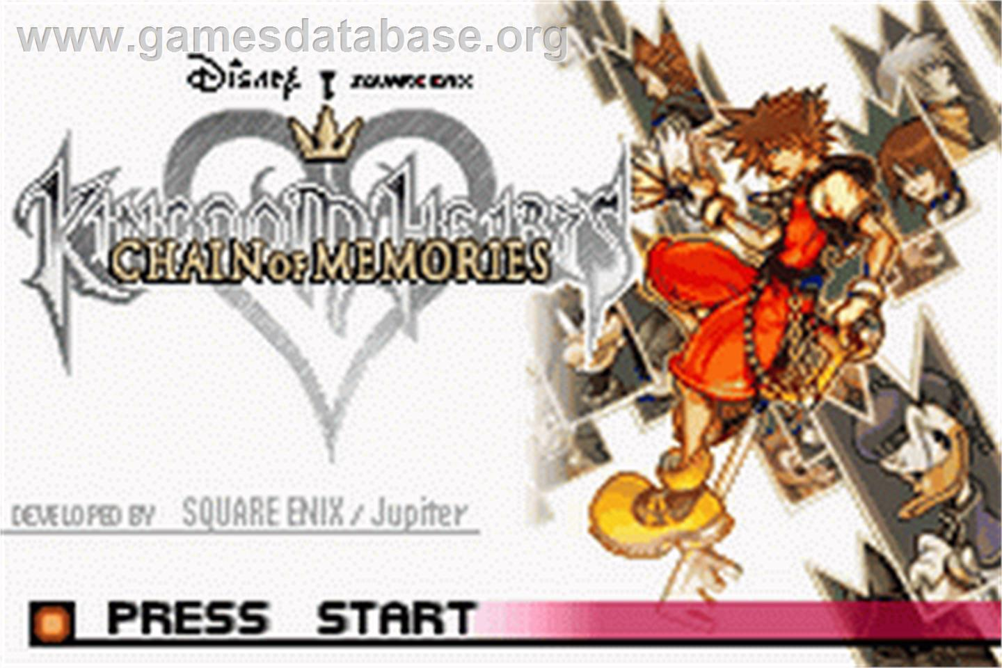 Kingdom Hearts: Chain of Memories - Nintendo Game Boy Advance - Artwork - Title Screen