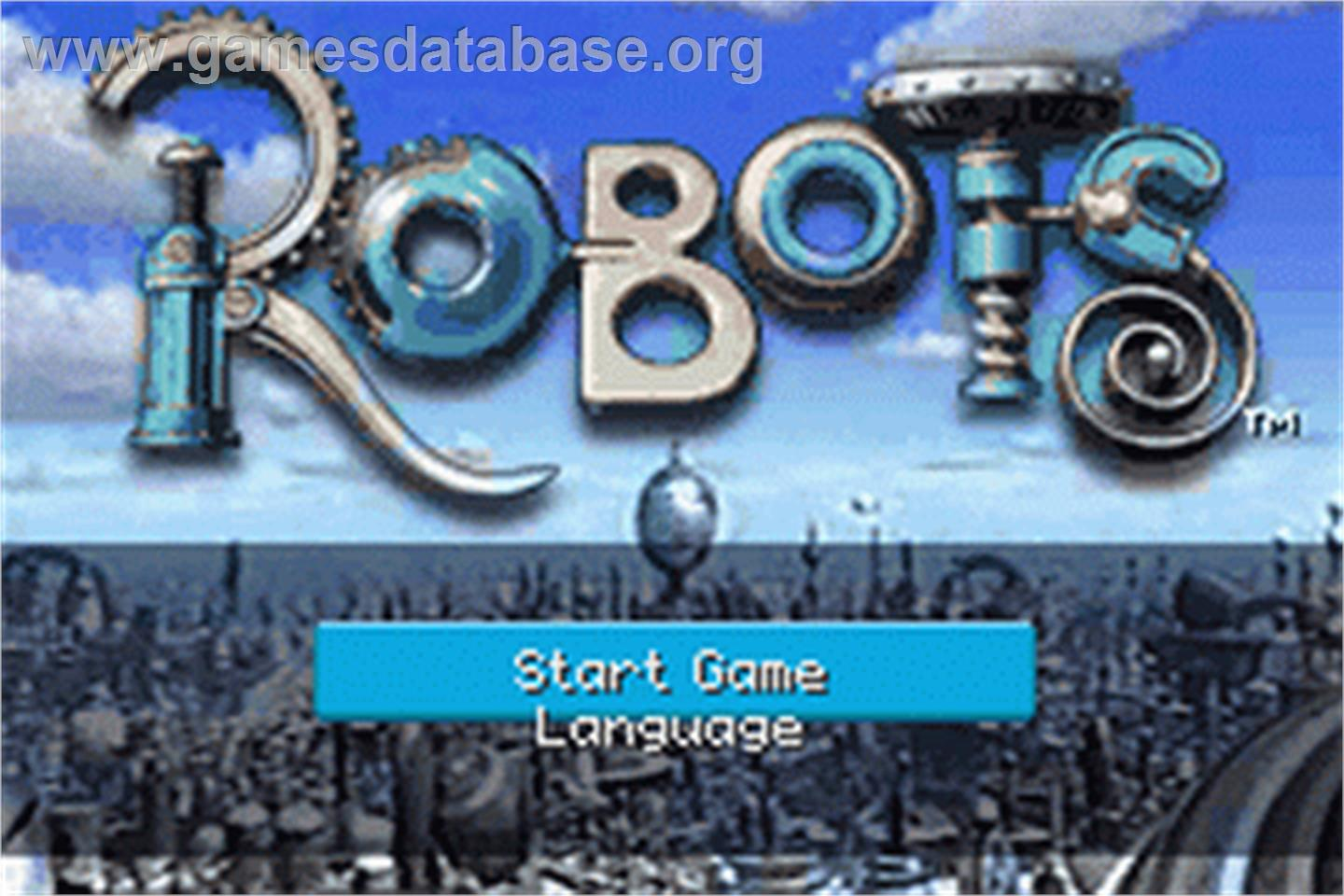 Title screen of Robocop on the Nintendo Game Boy Advance.