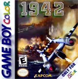 Box cover for 1942 on the Nintendo Game Boy Color.