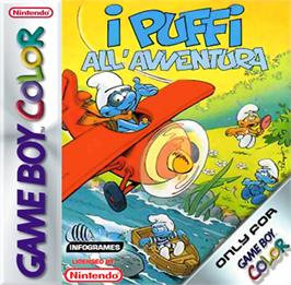 Box cover for Adventures of the Smurfs on the Nintendo Game Boy Color.