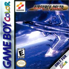 Box cover for Air Force Delta on the Nintendo Game Boy Color.
