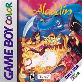 Box cover for Aladdin on the Nintendo Game Boy Color.