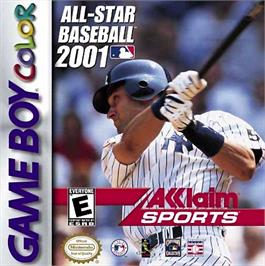 Box cover for All-Star Baseball 2001 on the Nintendo Game Boy Color.