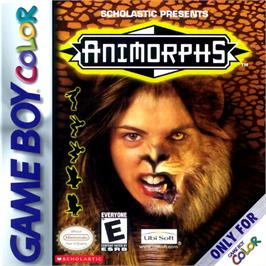 Box cover for Animorphs on the Nintendo Game Boy Color.