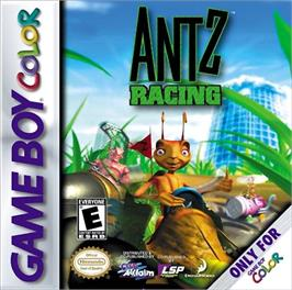 Box cover for Antz Racing on the Nintendo Game Boy Color.