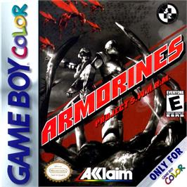 Box cover for Armorines: Project S.W.A.R.M. on the Nintendo Game Boy Color.