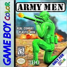 Box cover for Army Men on the Nintendo Game Boy Color.