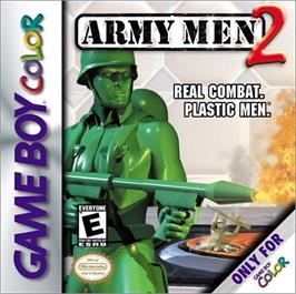 Box cover for Army Men 2 on the Nintendo Game Boy Color.