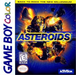 Box cover for Asteroids on the Nintendo Game Boy Color.