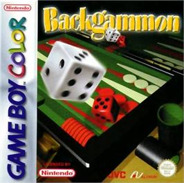 Box cover for Backgammon on the Nintendo Game Boy Color.