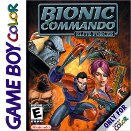 Box cover for Bionic Commando: Elite Forces on the Nintendo Game Boy Color.