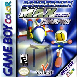 Box cover for Bomberman Max: Blue Champion Edition on the Nintendo Game Boy Color.