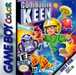 Box cover for Commander Keen on the Nintendo Game Boy Color.