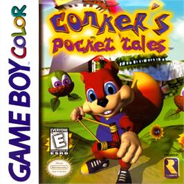 Box cover for Conker's Pocket Tales on the Nintendo Game Boy Color.