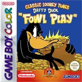 Box cover for Daffy Duck: Fowl Play on the Nintendo Game Boy Color.
