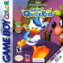 Box cover for Donald Duck: Goin' Quackers on the Nintendo Game Boy Color.