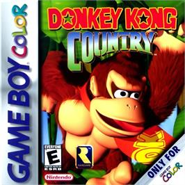 Box cover for Donkey Kong Country on the Nintendo Game Boy Color.