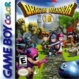 Box cover for Dragon Warrior 1 & 2 on the Nintendo Game Boy Color.
