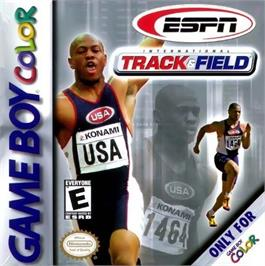 Box cover for ESPN International Track & Field on the Nintendo Game Boy Color.
