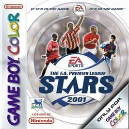 Box cover for F.A. Premier League Stars 2001 on the Nintendo Game Boy Color.