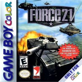 Box cover for Force 21 on the Nintendo Game Boy Color.