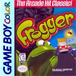 Box cover for Frogger on the Nintendo Game Boy Color.