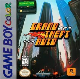 Box cover for Grand Theft Auto on the Nintendo Game Boy Color.