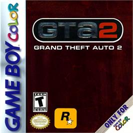 Box cover for Grand Theft Auto 2 on the Nintendo Game Boy Color.