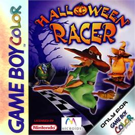 Box cover for Halloween Racer on the Nintendo Game Boy Color.
