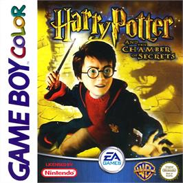 Box cover for Harry Potter and the Chamber of Secrets on the Nintendo Game Boy Color.