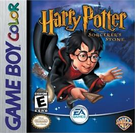 Box cover for Harry Potter and the Sorcerer's Stone on the Nintendo Game Boy Color.