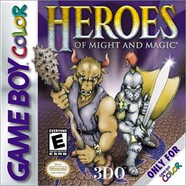 Box cover for Heroes of Might and Magic on the Nintendo Game Boy Color.
