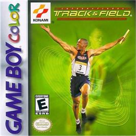 Box cover for International Track & Field on the Nintendo Game Boy Color.