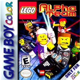 Box cover for LEGO Alpha Team on the Nintendo Game Boy Color.