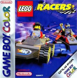 Box cover for LEGO Racers on the Nintendo Game Boy Color.