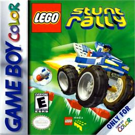 Box cover for LEGO Stunt Rally on the Nintendo Game Boy Color.