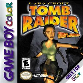 Box cover for Lara Croft Tomb Raider: Curse of the Sword on the Nintendo Game Boy Color.