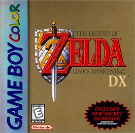 Box cover for Legend of Zelda: Link's Awakening DX on the Nintendo Game Boy Color.