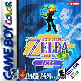 Box cover for Legend of Zelda: Oracle of Ages on the Nintendo Game Boy Color.