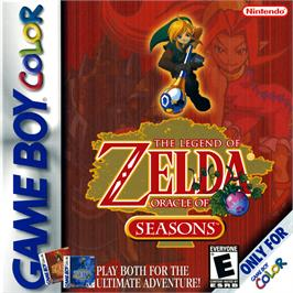 Box cover for Legend of Zelda: Oracle of Seasons on the Nintendo Game Boy Color.