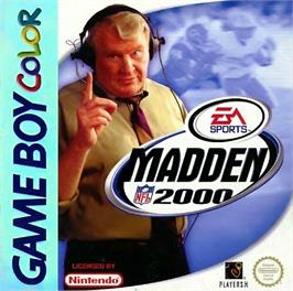 Box cover for Madden NFL 2000 on the Nintendo Game Boy Color.